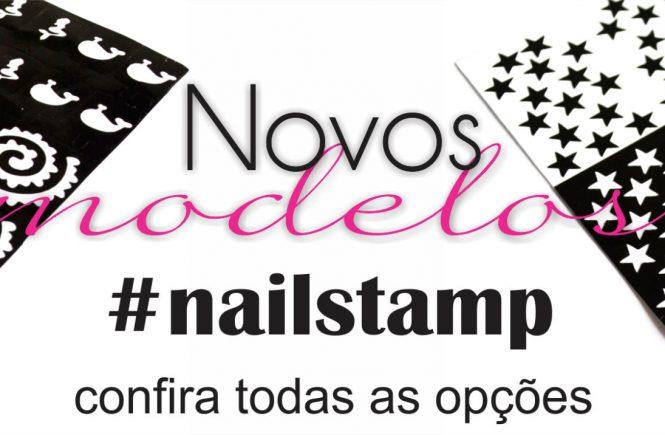 Modern Art's unhas com Nail Stamp