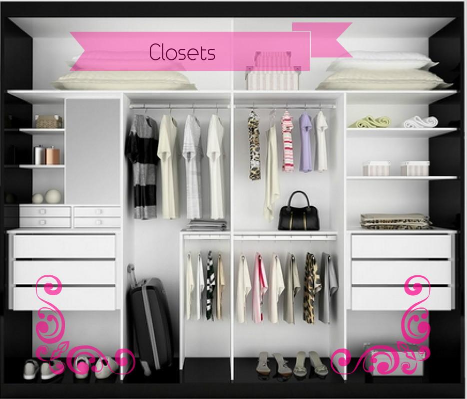 Ideias de Closets para pouco espaço