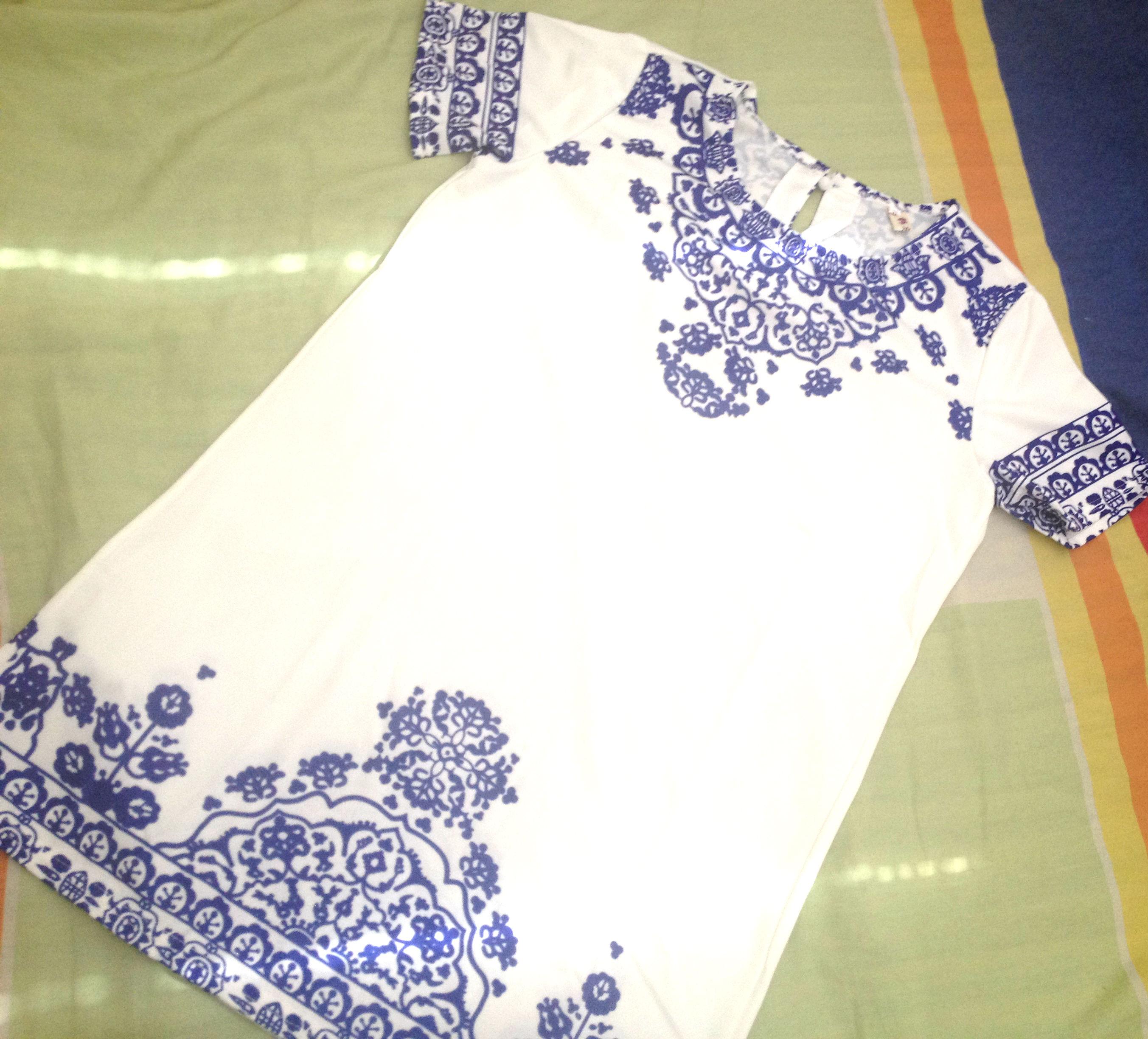 Vestido estampa azulejo Banggood