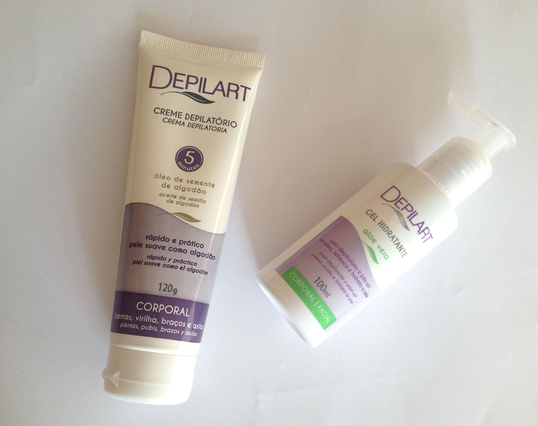 Depilart | Creme depilatório e Gel hidratante