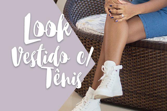 Trend alert | Vestido com tênis branco