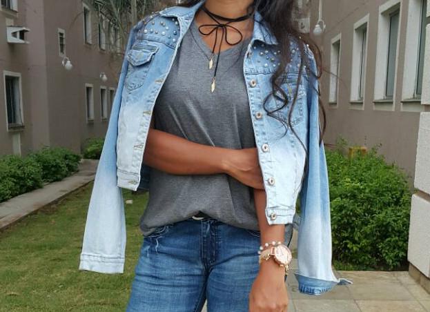 Look total Jeans com Rosegal