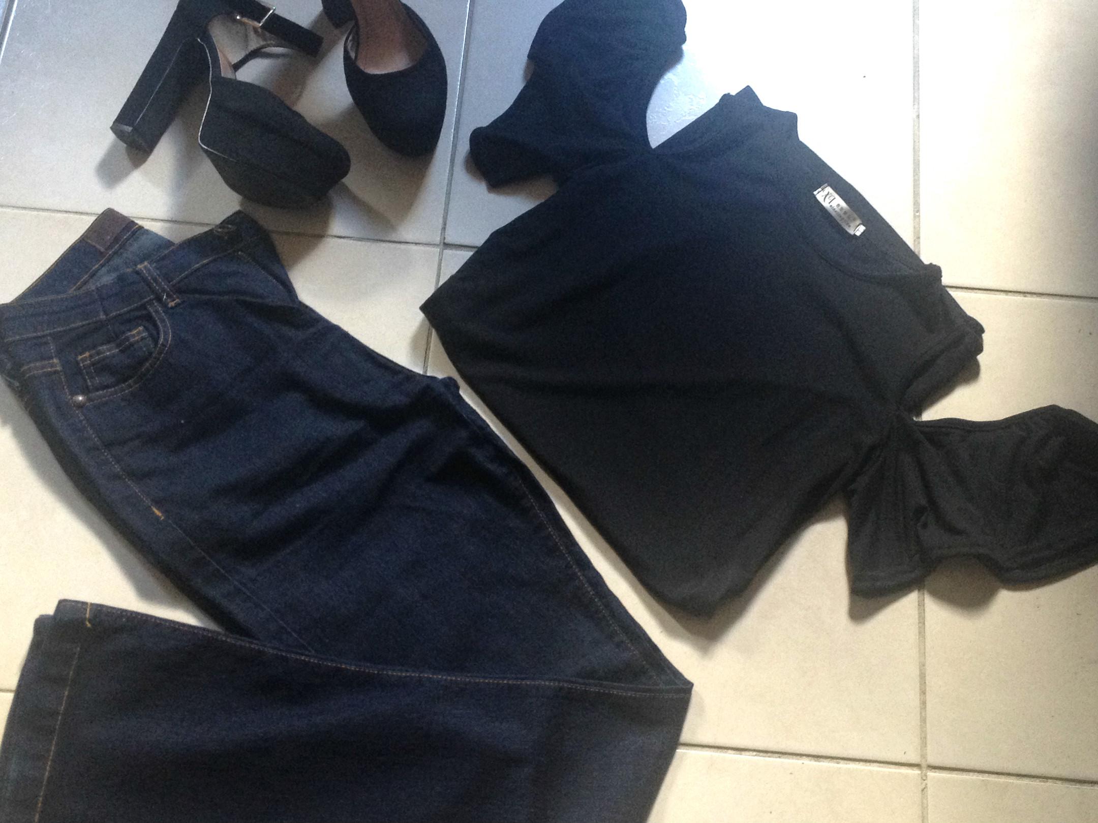 Jaqueta jeans porque o frio chegou, só que não