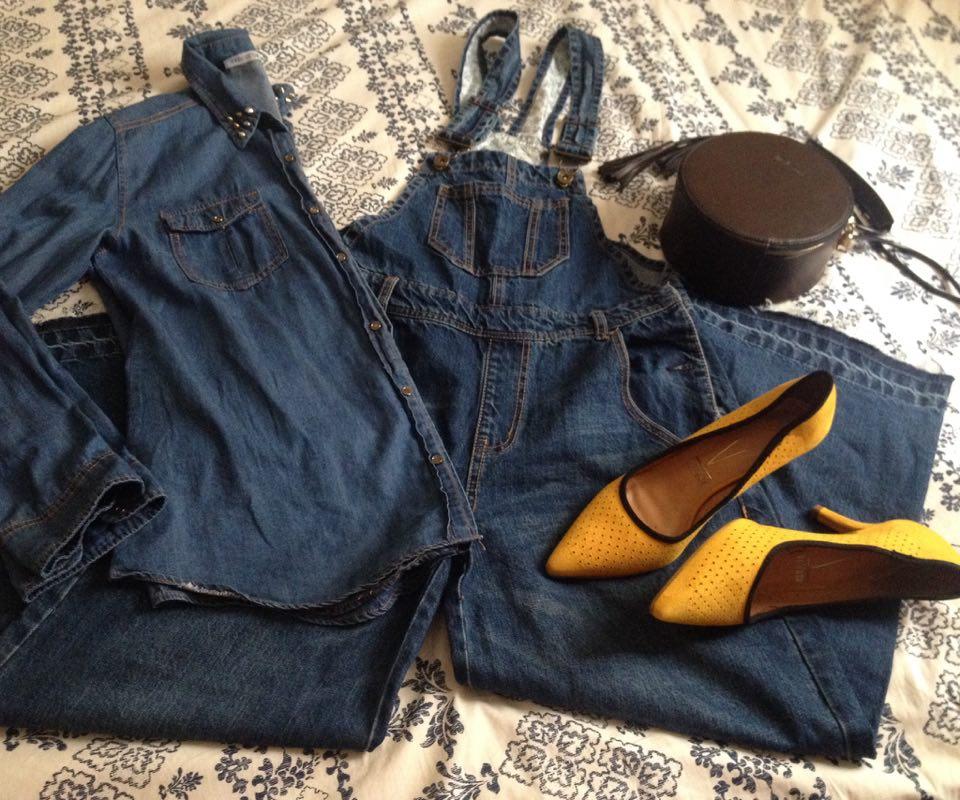 Look All Jeans com macacão