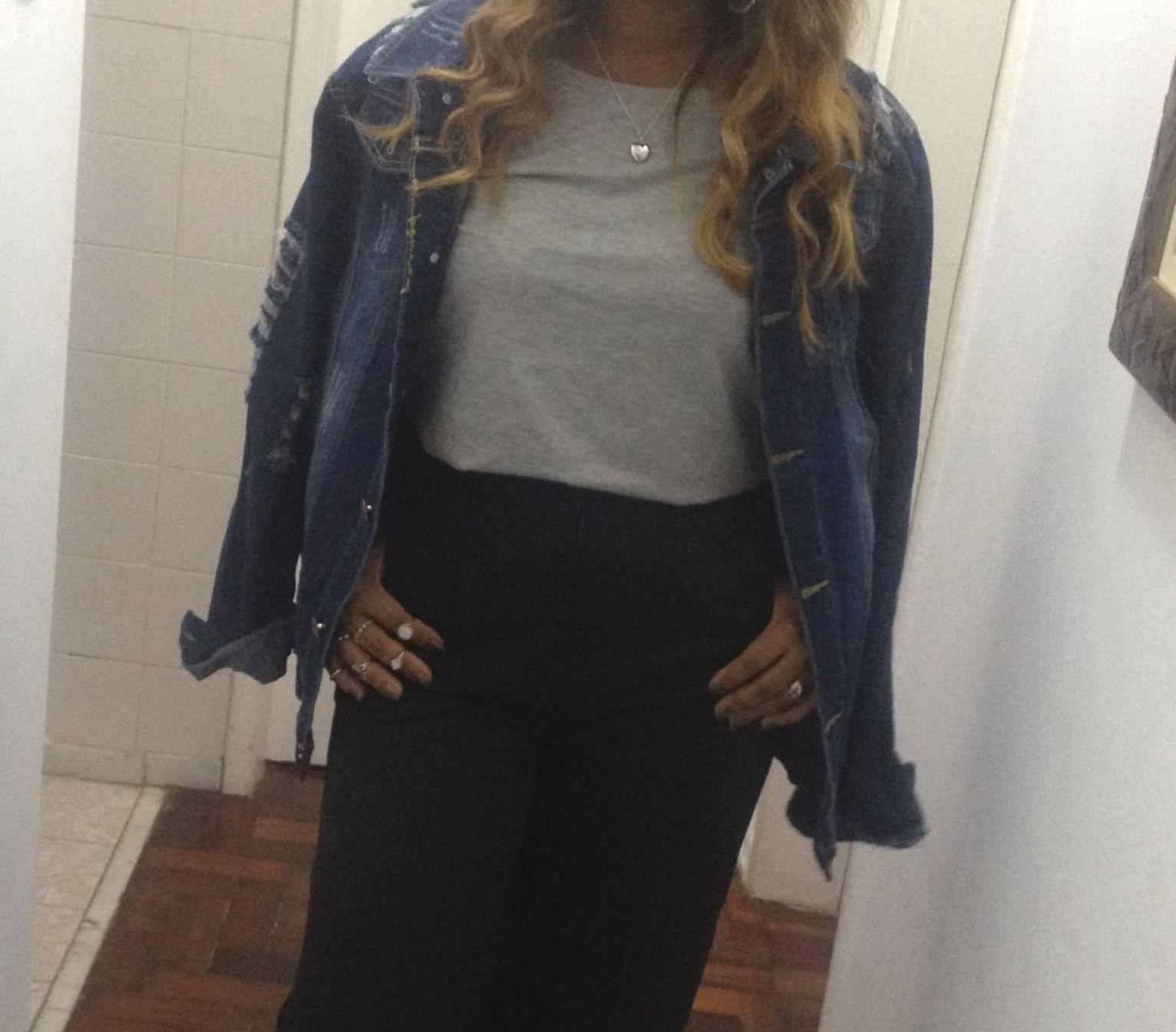 Jaqueta jeans Oversized | Look de hoje